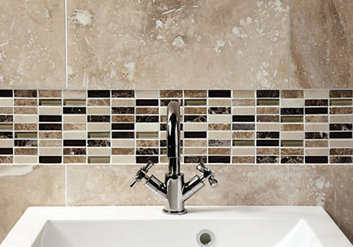 OHJ Bathrooms - Mosaic and glass tiles