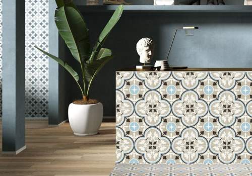 OHJ Bathrooms - Patterned tiles